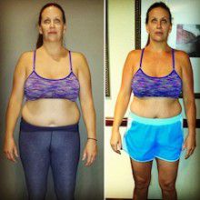 Maya Before and After at Unite Fitness Retreat