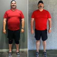 Chuck Before and After at Unite Fitness Retreat