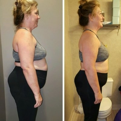 Before and After Weight Loss Boot Camp Success